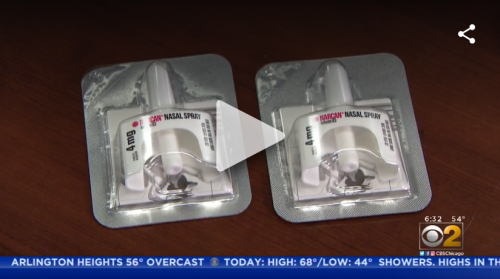 Image from CBS Chicago coverage of Naloxone program in Cook County jail