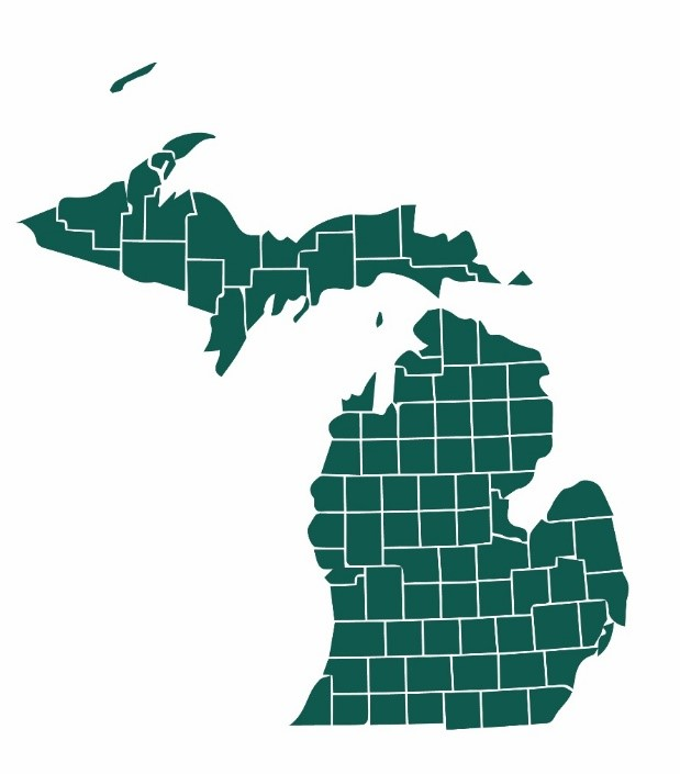 map of michigan with county lines